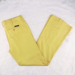 Level 99 | Newport wide leg yellow linen pants
